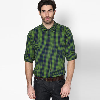 Striped Green Casual Shirt